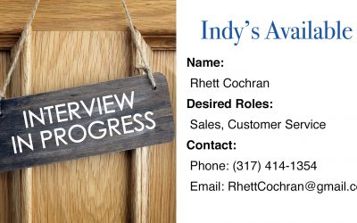 Indy's Available – Meet Rhett Cochran